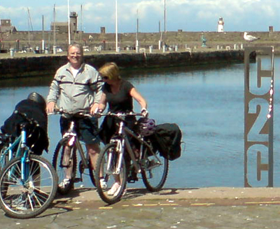 The start of the C2C route in Whitehaven