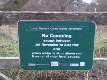 Rules at Isel Bridge on lower Derwent near Cockermouth
