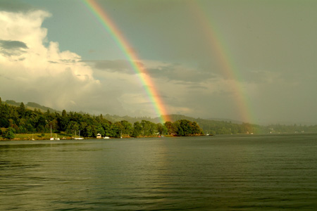 Double rainbow over Windermere