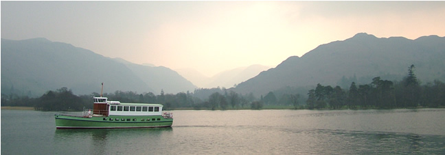 Ullswater In 2007 Lady Wakefield steamer was renovated and rejoined the fleet of Ullswater Steamers. Tel 017684 82229