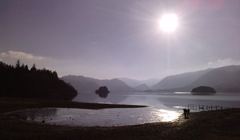 Winter sun over Derwentwater
