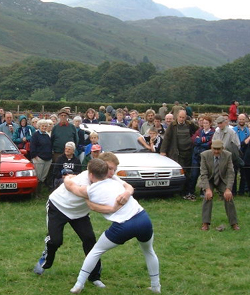 wrestling at Eskdale show